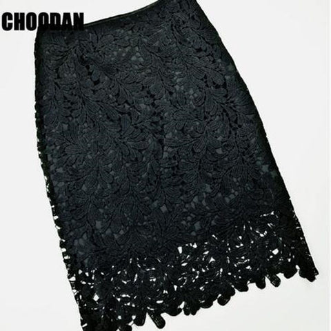 High Waist Lace Pencil Skirts
