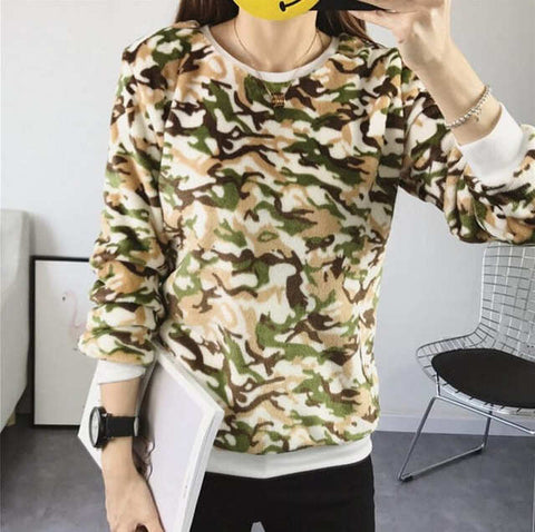 Casual Cotton Long Sleeve Cartoon Print Sweater