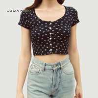 Fitted Ribbed Crop Top
