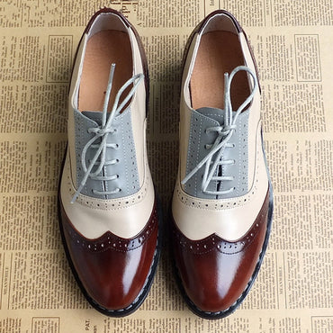 genuine leather brogues oxford