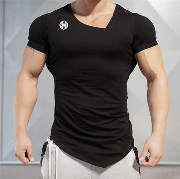 V-neck Short Sleeve Slim Fit T Shirt