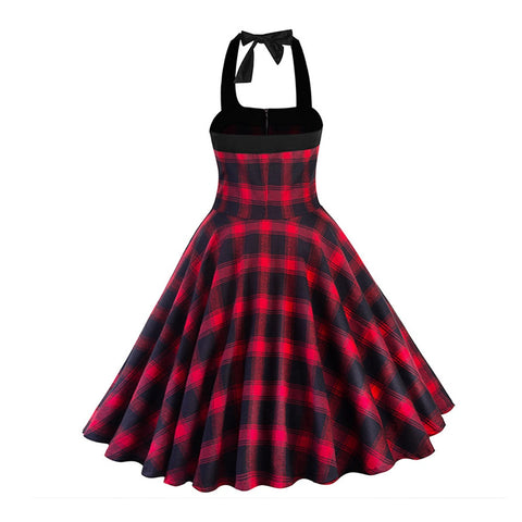 Plaid Vintage Sexy Rockabilly Dress