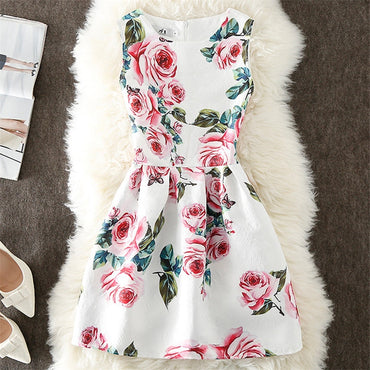 A-Line Flower Elegant Sleeveless Dress