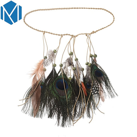 Colorful Feather Boho Hair Bands Accessories