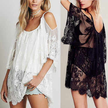 Hippie Sheer Floral Lace Dress