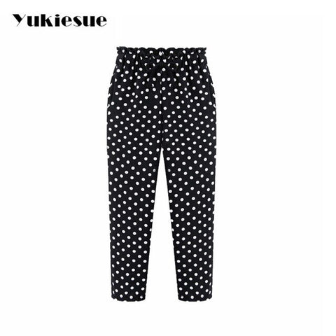 Ankle-Length Harem Chiffon Pants