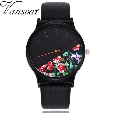 Vintage Leather Floral Watches