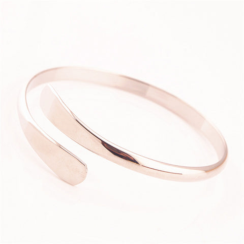 Simple Pure Copper Jewelry Open Bangles & Bracelets