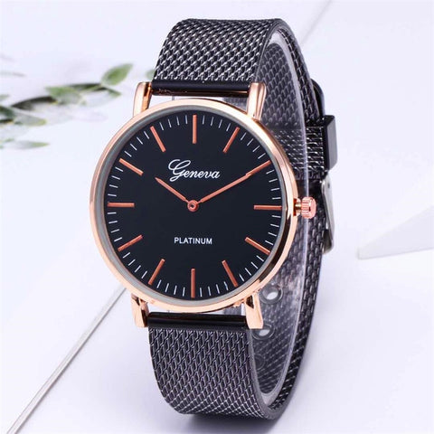 Fashion Rose Gold Silver Luxury Wrist Watch