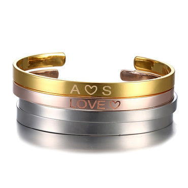 Personalized Engraved Stainless Steel Bracelet & Bangle