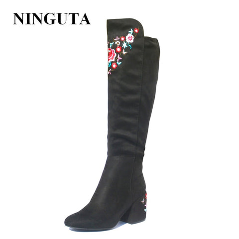 embroider high boots