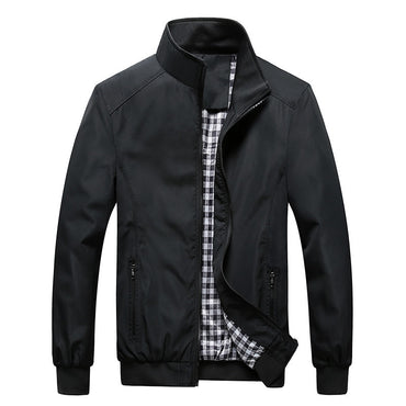 Quality Bomber Solid Casual Jacket