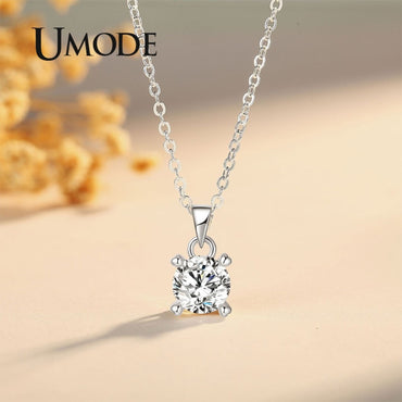 Long Zirconia Pendants Necklace