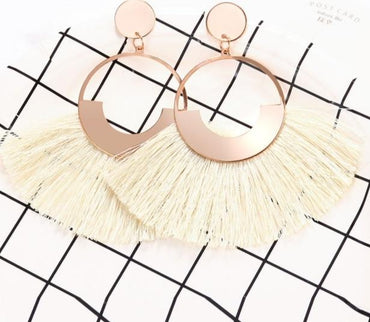 Bohemian Big Tassel Drop Earrings