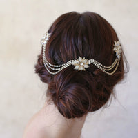 Bride Rhinestone Ripple Head Chain