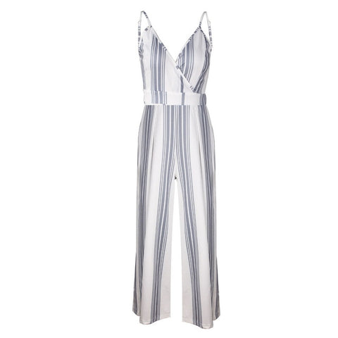 Sleeveless Strip Jumpsuit