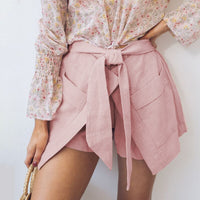 Bow Pocket Solid Shorts