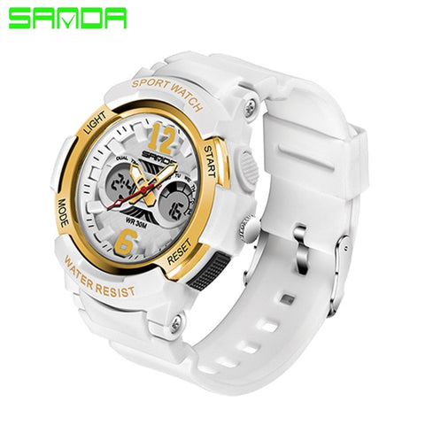 Casual Waterproof LED Digital Electronic Sport Wristwatch