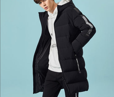 Grey duck down coat