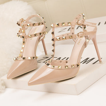 Pointed Cut-Outs Party Shoes