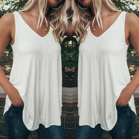 Casual Pure Color Tops