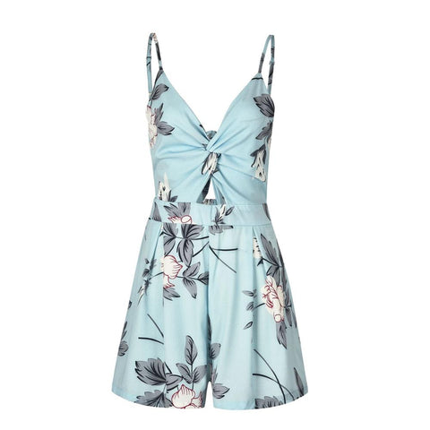 New Bow Backless Sexy Mini Rompers