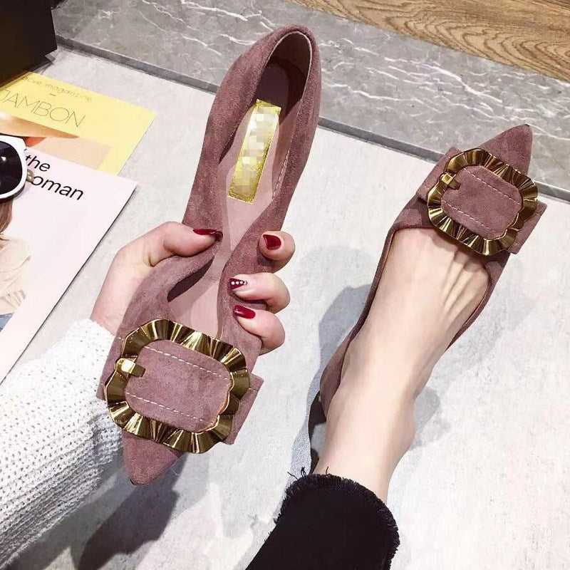 Sexy Pointed Toe Slip On Flat Shoes