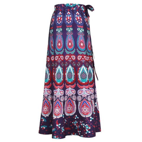 High Waist Bohemian Ethnic Boho Beach Skirt