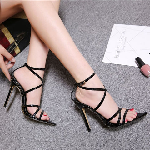 Ankle Strap Pointed Toe High Heels