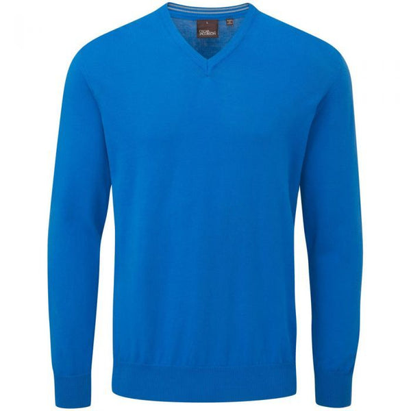 Oscar Jacobson Constable Pullover Royal Blue