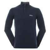 Oscar Jacobson Waldorf Tour Half Zip Sweater Navy