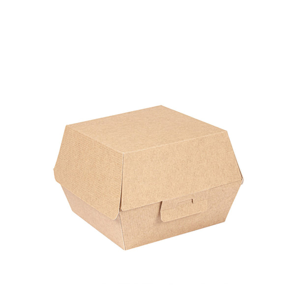 Burger-Box, Premium, braun, 110x110x95mm, THE PACK®, 500 Stk.