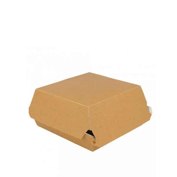 Burger-Box, Kraftpapier, 145x145x80mm, eco-nature, 400 Stk.