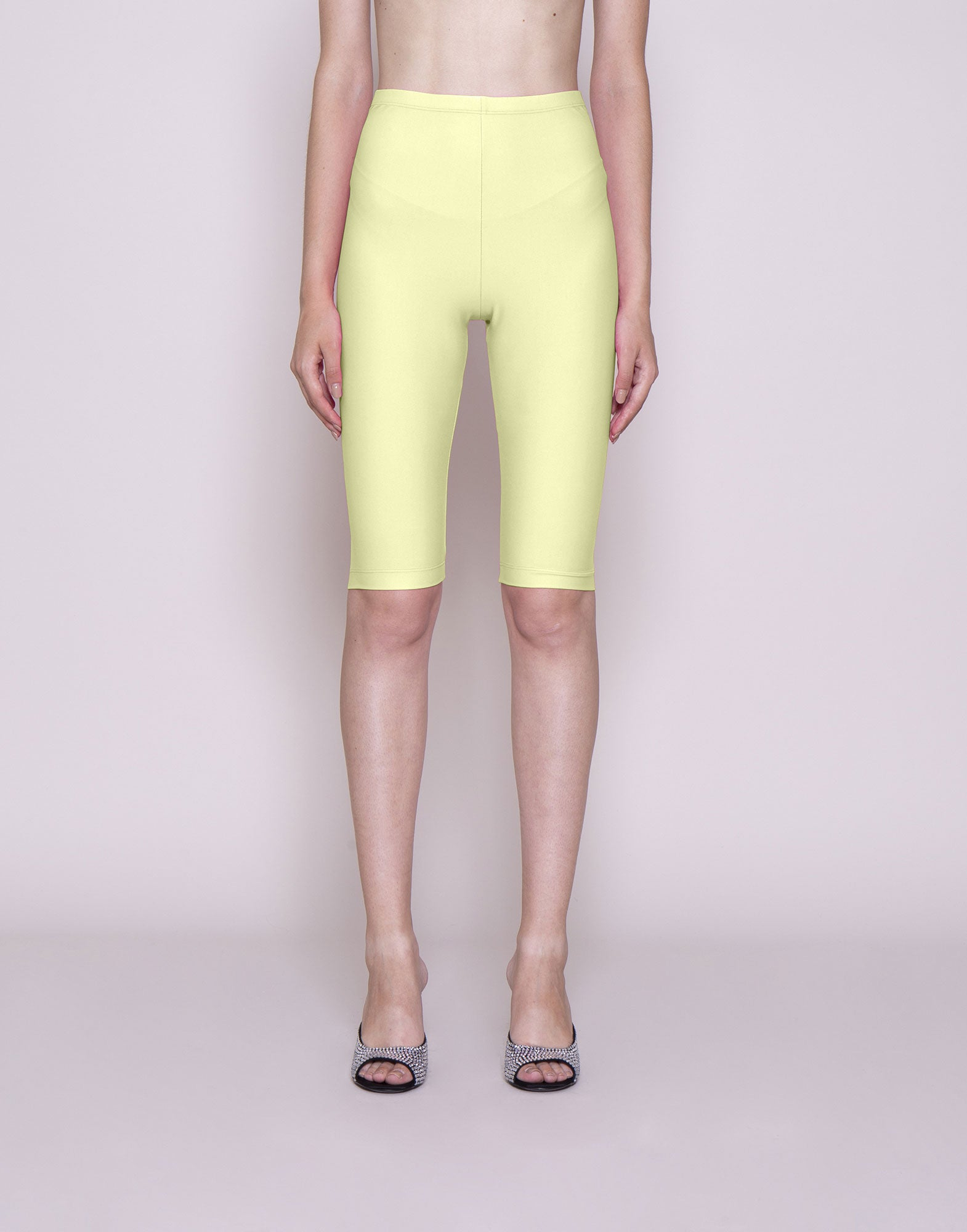 Yellow lycra biker shorts | NEW ARRIVALS