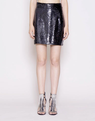 Sequin embroidered skirt