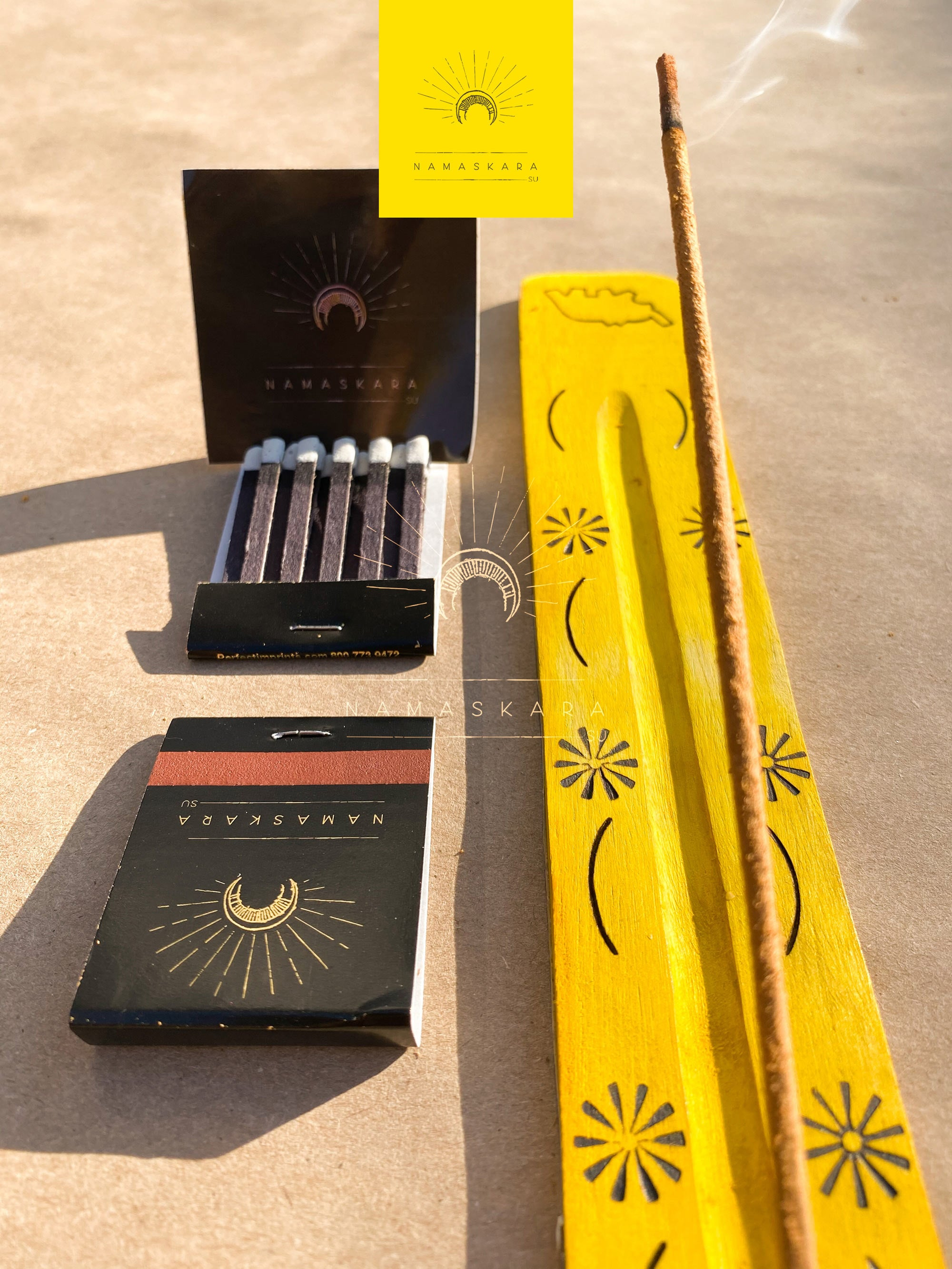 Namaskarasu Air Element Presence - 12 x Herb Incense - 1 x Incense Wood Holder «The Shadow Talks»