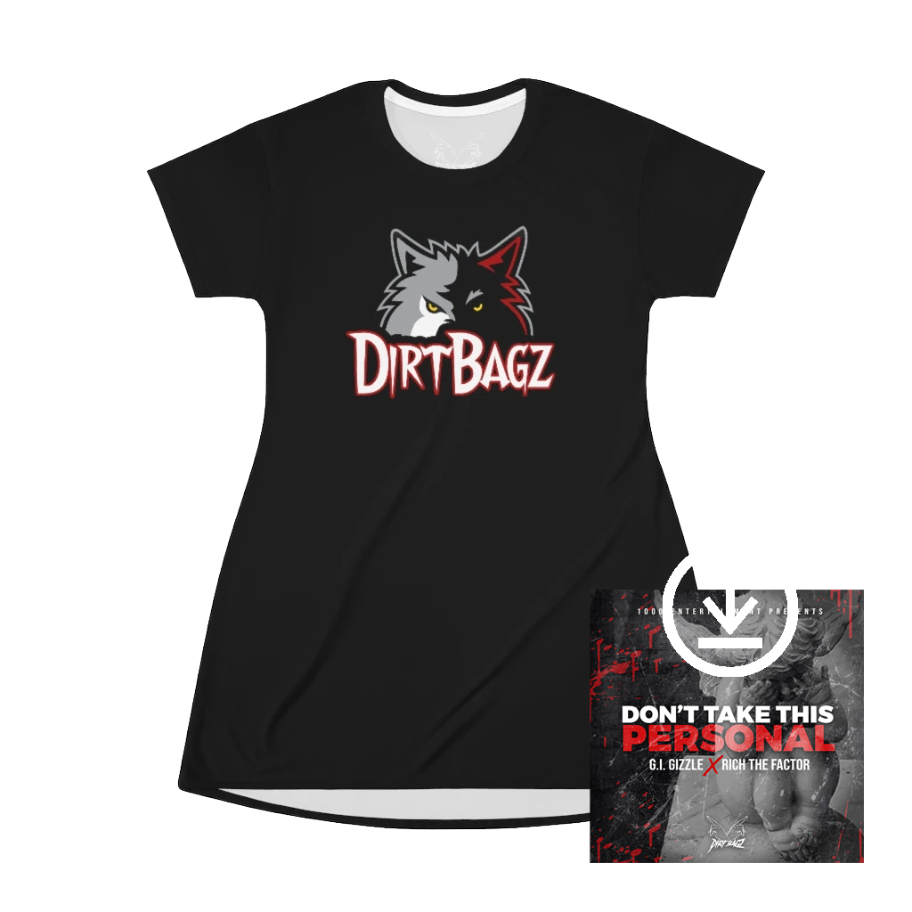 DirtBagz Wolves T-Shirt Dress + Digital Album