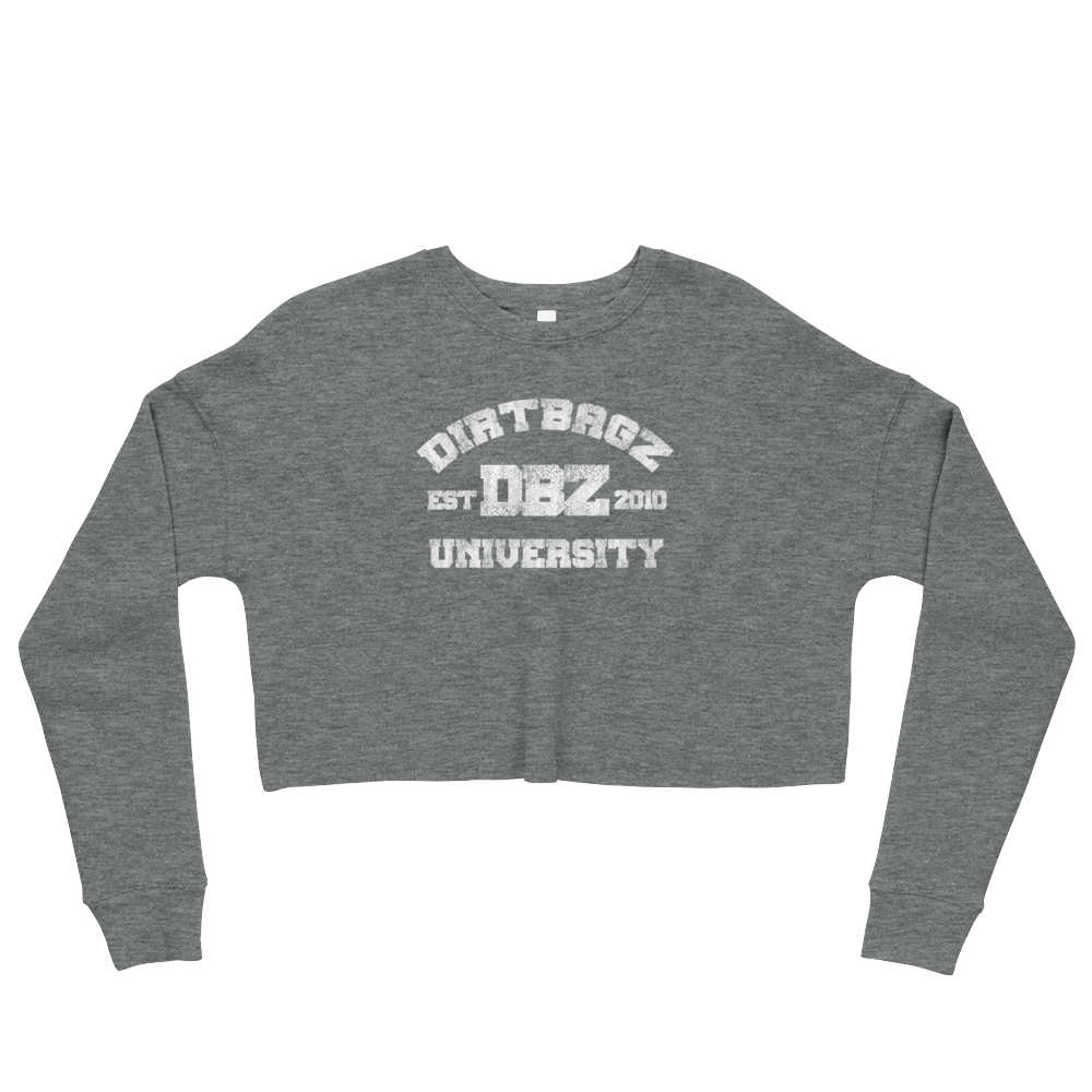 DirtBagz University Women's Crop Sweatshirt
