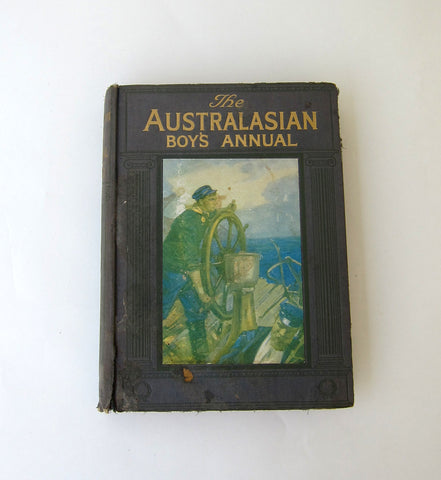 Antique 1920s Australasian Boys Annual Book, boys annual, adventure stories
