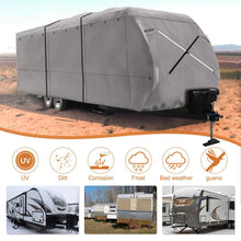 Load image into Gallery viewer, NEW Travel Trailer RV Cover 300D Top Premium Fabric GRAY