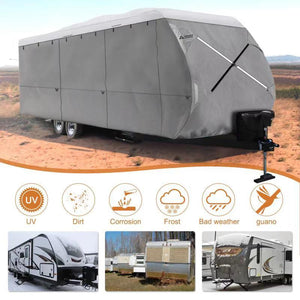 NEW Travel Trailer RV Cover White Color Top GREY