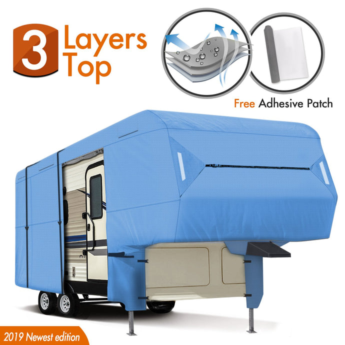 5th Wheel RV Cover BLUE