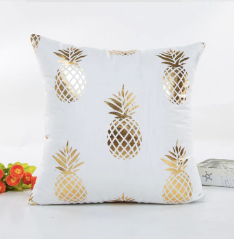 Gold Decoration Cushion Cover