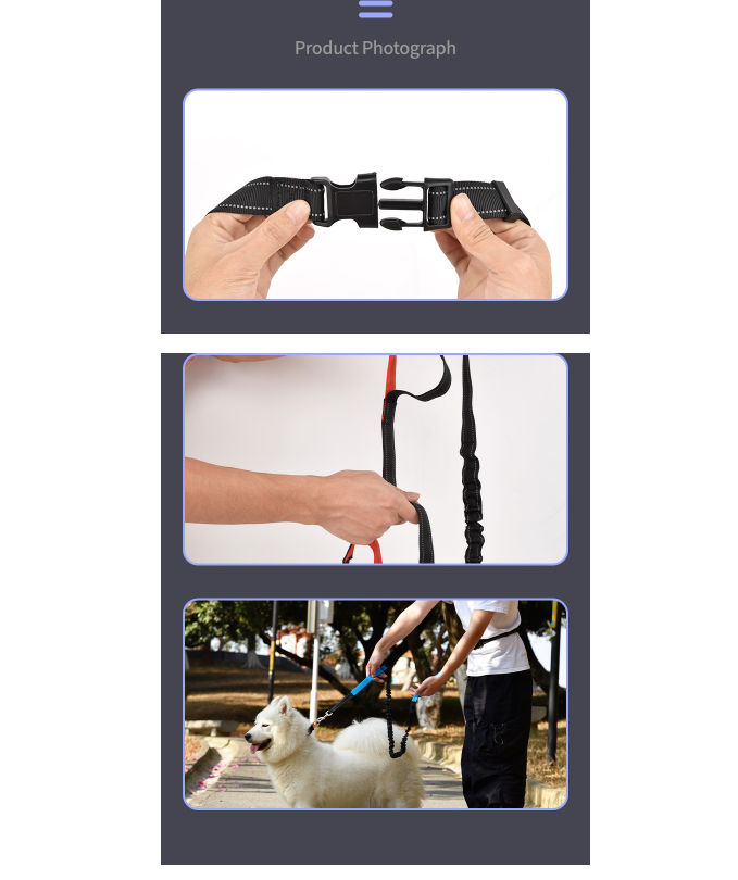 Adjustable Running Dog Leash