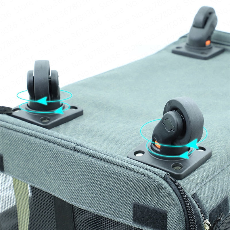 Collapsible Universal Wheel  Portable  Pulley Dog Travel Bag