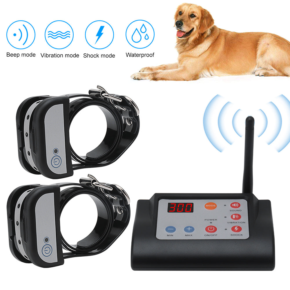 Waterproof Rechargeable 2 IN 1 Wireless Electric Pet Dog Fence
