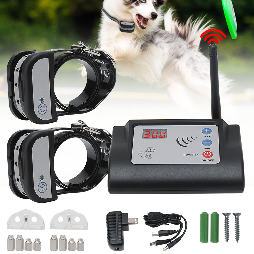 Wireless Waterproof Electric Dog Fence Outdoor Pet Dog Training Collar