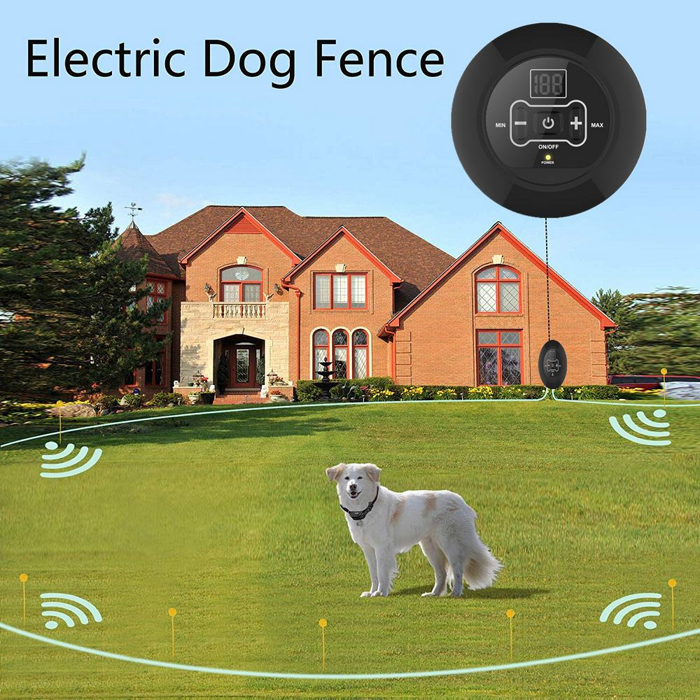 500m Wireless Dog Electric Fence Waterproof Rechargeable  Dogs Collar
