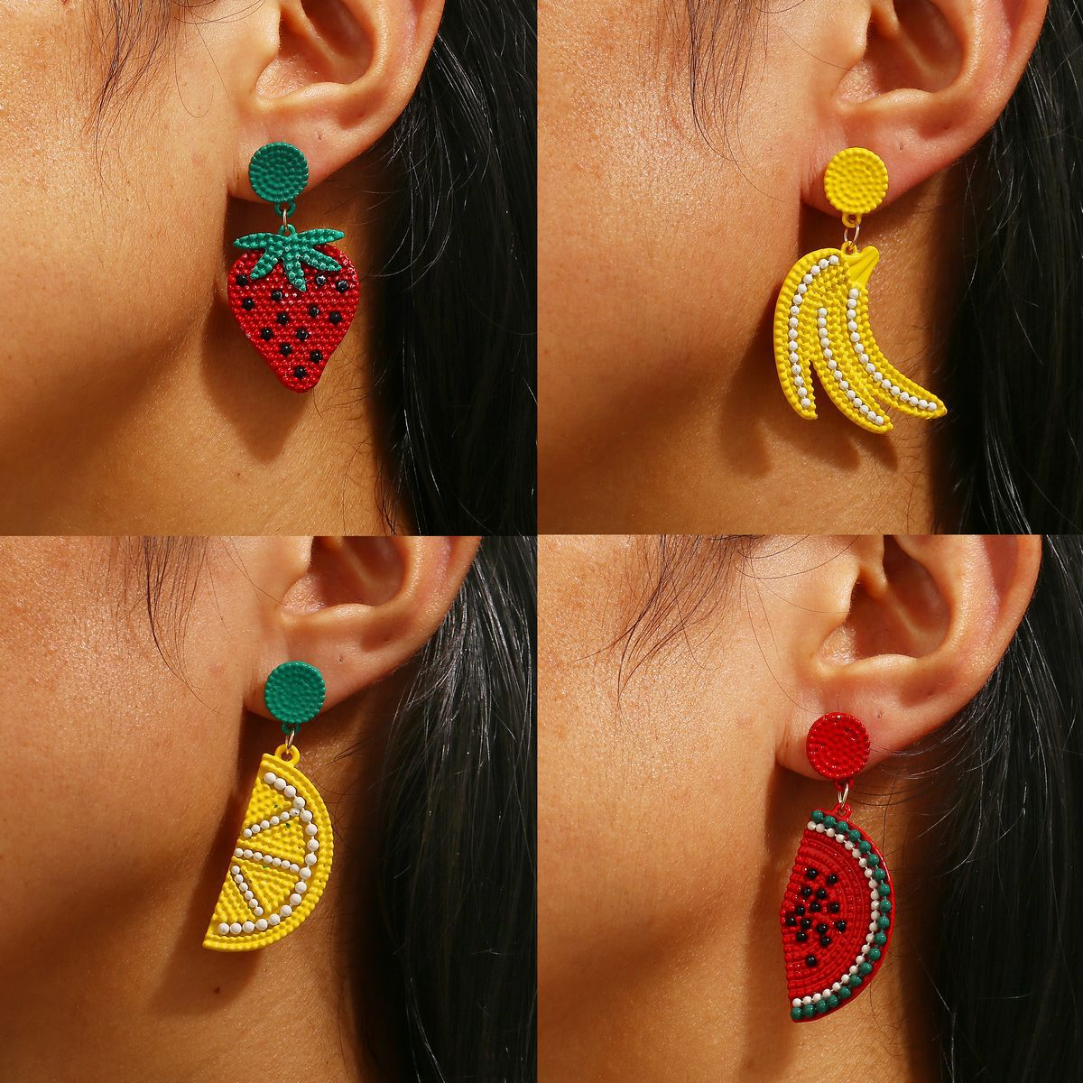 Cartoon Fruit Earrings
