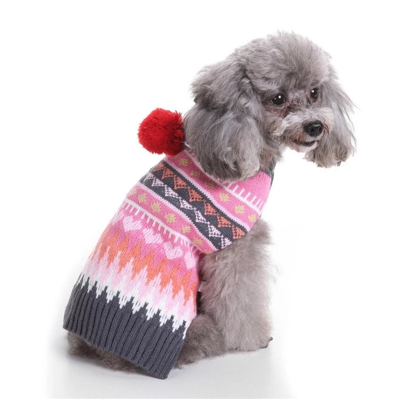 Dog Christmas Sweater With A Hat